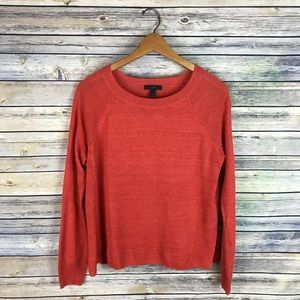 J. Crew Orange Linen Swing Sweater